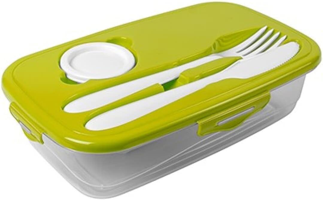 Fiambrera Infantil Fiambrera para Niños. Lunch Box -(3 uds) Caja Para Cubiertos - Tupper Infantil - Tupper Cubiertos - Taper con cubiertos Caja de Almuerzo (Colores claros)
