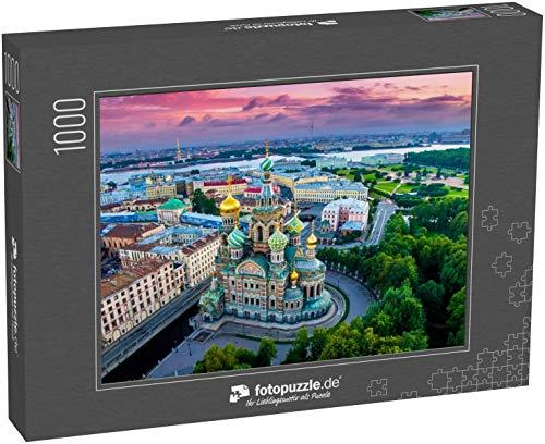 fotopuzzle.de Puzzle 1000 Teile Sankt-Petersburg Russland Panorama von St Petersburg bei Sonnenuntergang im Sommer (1000, 200 oder 2000 Teile)