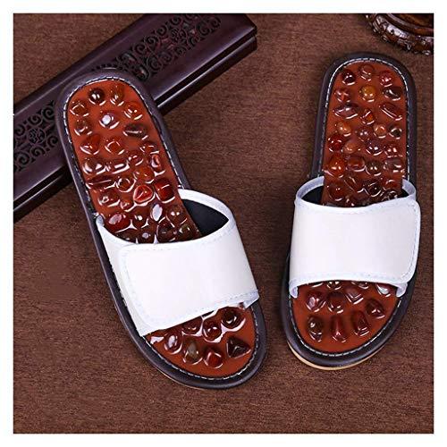 WXDP Pantuflas cálidas, para mujeres y hombres, masaje de pies en casa, suela de pie, masaje de adoquines, acupresión, reflexología, parejas, sandalias para aliviar la fascitis plantar