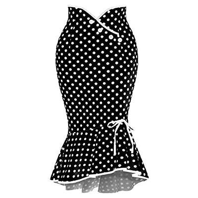 Women Print Short Casual High Waist Pleated Skirt Black from