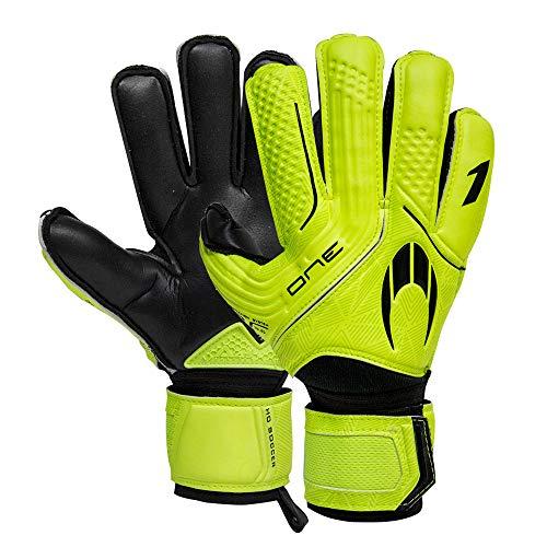 Ho Soccer One Protek Flat Neon Lime Torwarthandschuhe, Unisex, Kinder, Limette/Schwarz, 5,5