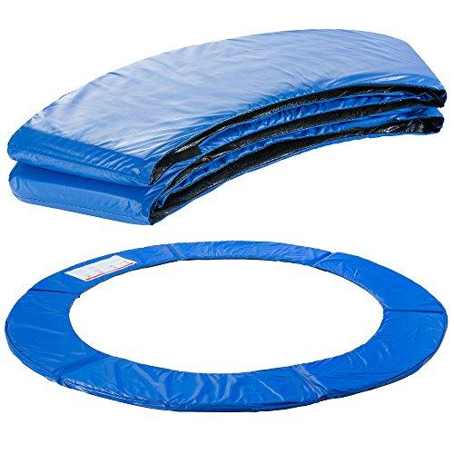 Arebos Trampolin Randabdeckung Federschutz | 183, 244, 305, 366, 396, 457 oder 487 cm | aus PVC und PE | Reißfest | 100{143a79ec62e946eace10ef4db9ceb5e4c349c3399729ef04ae21cd03c1bce66a} UV-beständig | Blau (blau, 183 cm)