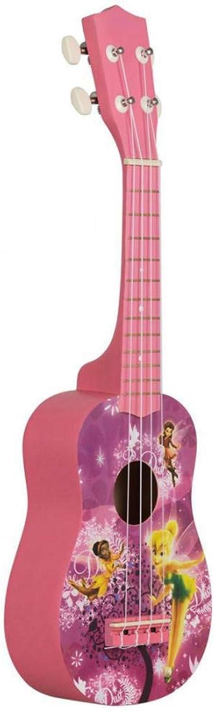 ZGHNAK 21 pouces 15 frettes ukulélé soprano 4 cordes en nylon modèle de guitare InstruHommest acoustique universel rose