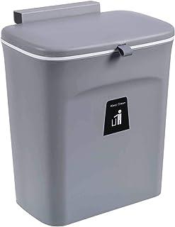 ZIJIAGE Poubelle Portable, Hanging Poubelle avec Couvercle Coulissant, Cuisine COMPOSTEUR pour sous l'évier/Placard/Salle ...