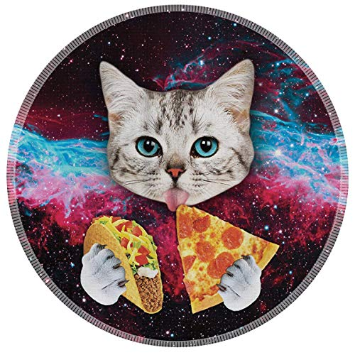 Mouse Pad Galdas Mousepad Round Samll Mouse Pad Cute Mouse Pads Rubber Base Mouse Pads for Kids Computers Laptop(Space Cat)