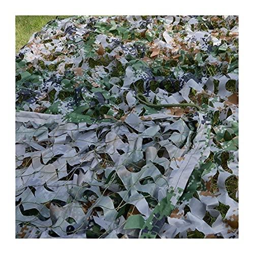 malla sombreadora Campo Netting Camuflage Net Sunscreen Mess Sunshade Tienda, Adecuado para jardín Decoración de pared Camping Ejército militar Caza al aire libre Cubierta de coche, camuflaje Fiesta d