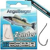 Angel-Berger Vorfachhaken gebundene Haken (Zander, Gr.1/0 0.25mm)