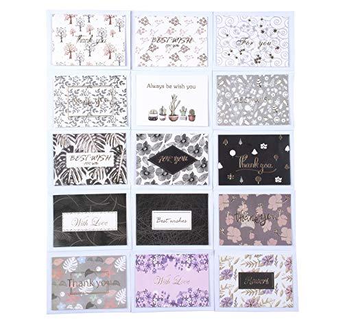 30 juegos de lindas tarjetas de felicitación en blanco con sobres - Paquete múltiple para todas las ocasiones Tarjetas de cumpleaños Tarjetas de agradecimiento (109)