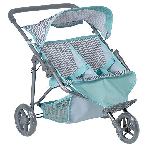 Adora Zig Zag Twin Jogger Stroller for Baby Doll