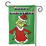 "Zebraprime Double Sided How The G-rinch S-tole Christmas Seasonal Outdoor D¨¦cor Decorative Large Flag for Holiday 12.5""x18"""