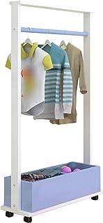 LM-Coat rack XINGLL Porte Manteau Vestiaire Porte Manteaux, Portable Amovible avec Organisateur Roues, Étagère Rangement P...