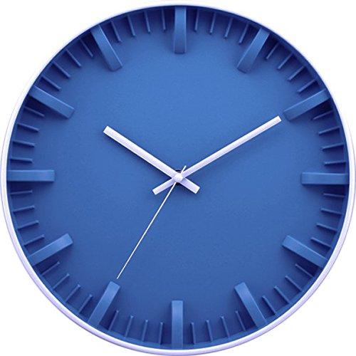 BUVU ZH09731F Reloj de Pared, Azul, 30 x 30 x 5 cm
