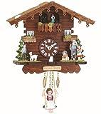 Trenkle Reloj en Miniatura de la Selva Negra casa Suiza, Bailarines Que Dan Vuelta...