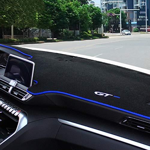 Auto Armaturenbrett Mat Für 3008 3008 GT 5008 Armaturenverkleidung Teppiche Antirutschmatten Armaturenbrett Zubehör (blue)