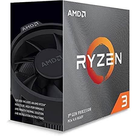 AMD Ryzen 3 3100, with Wraith Stealth cooler 3.6GHz 4コア / 8スレッド 65W【国内正規代理店品】100-100000284BOX