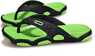 Comfortable/beautiful sandals and slippers Summer Men'S Breathable Sandals Drag Beach Shoes Non-Slip Leisure Flip-Flops (Color : Green)