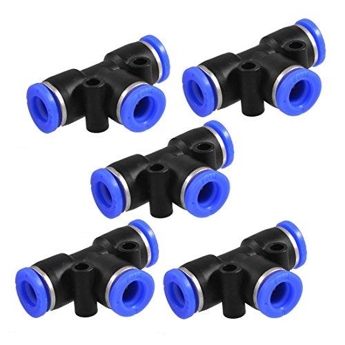 Lesueur 5 piezas conexiones instantaneas rapidos en forma de T 8 mm a 8 mm 3 maneras de empuje en forma de T