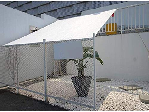 Red de sombreado Sombra de sombra blanca UV Sun Sun Pantalla protectora Shelter Holding Toldos impermeables para Patio Garden Fiestas Gazebo Canopy PERGOLA Outdoor Coche Cubierta de Coche Sombrero Tie