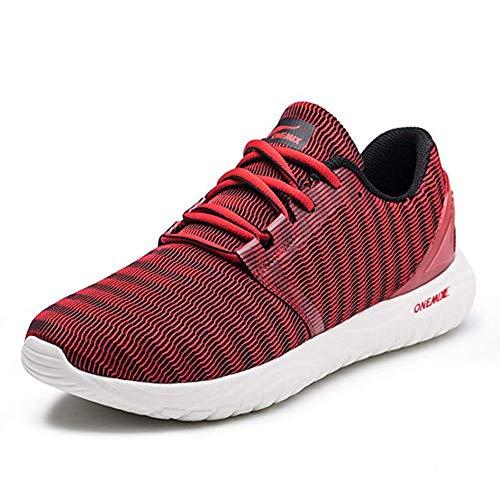 ONEMIX Scarpe da Running Uomo, Leggero e Traspirante Scarpe da Ginnastica Sportive Outdoor Fitness Sneakers 1309 Red 39