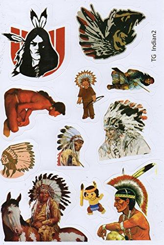 Sioux Apache Indianer Federschmuck Häuptling Sticker Aufkleber Folie 1 Blatt 270 mm x 180 mm wetterfest