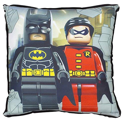 LEGO DC Super Héros Floral Coussin carré, Polyester, Multicolore