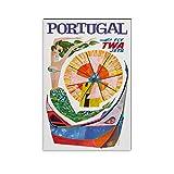 FGDFS TWA Airlines Portugal 1960er Poster Filmdruck