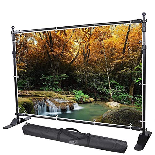 WinSpin 10x8 ft Banner Stand Adjustable Expanding Trade Show Display Backdrop