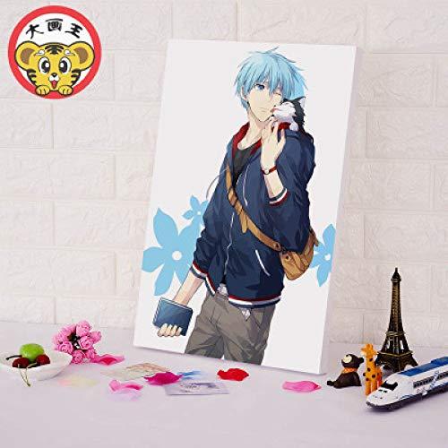(sin Marco) Pintura Digital 2D Anime Baloncesto Personaje Decorativo B011-0947 30 * 45 cm + sin Marco
