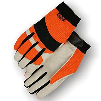 Bald Eagle High Visibility Pigskin Leather Gloves with Thinsulate (Mechanics Style)