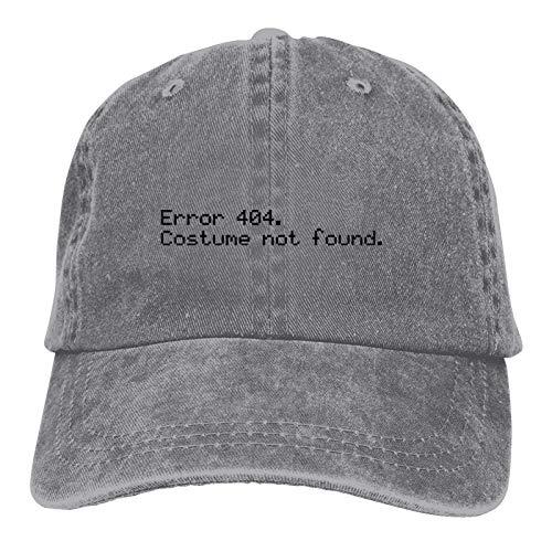 JONINOT Errores-404 - Disfraz no Encontrado Vintage Algodn Lavado Hombres Mujeres Gorra de bisbol Distressedhats Sombrero Ajustable para pap