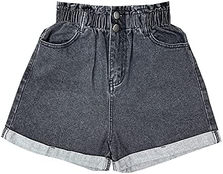 PDGJG Limited price sale Plus Size Summer Black Shorts 5XL Women's Large Denim Max 50% OFF