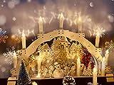 30er LED Weihnachtskerzen Kabellos, Warmweiß Christbaumkerzen Kabellos, led kerzen weihnachtsbaum, IP64, für Weihnachtsbaum, Weihnachtsdeko. mit Batterie Fernbedienung, LED Lichterkette Kerzen. - 2