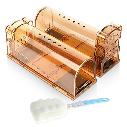 Bostar ネズミ取りカゴ 捕り器 マウストラップ 無毒無害 殺さず捕る 設置簡単 再利用可能(2個セット)