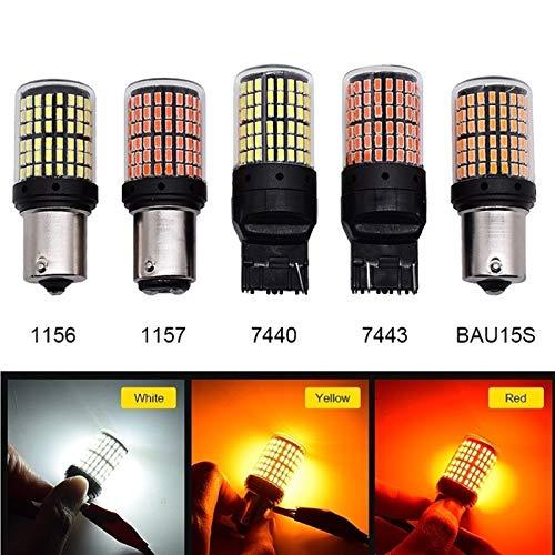 GSDGBDFE 1pcs 3014 144SMD CANBUS S25 1156 P21W BA15S BAY15D BAU15S PY21W T20 LED 7440 7443 W21W 1157 Bulbos para la luz de la señal de Giro (Color Temperature : T20 7440, Emitting Color : Red)