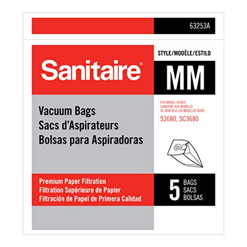 Sanitaire Style MM Allergen f/S3680 Replacement Vacuum Bag, White, 5