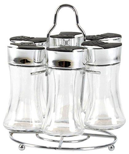 Equinox 515872 kruidenrek met 6 flessen, Grijs