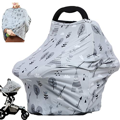 Multiuse Nursing Cover Carseat Canopy  Car Seat Covers for Babies Breastfeeding Ups Nursing Scarf Breastfeeding Cover