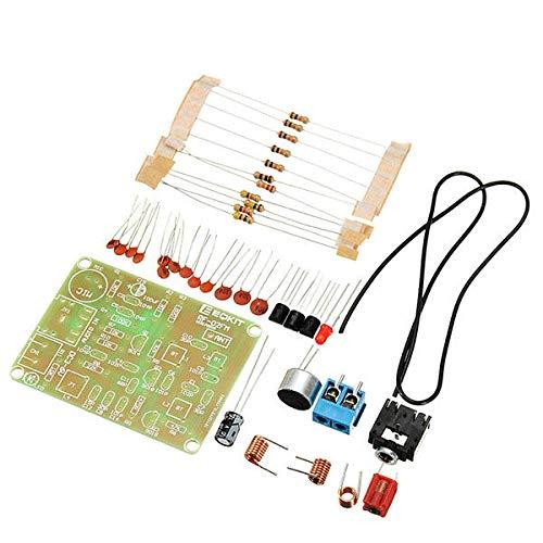 KASILU Dlb0109 10pcs Kit de transmisor FM RF-02 Piezas de micrófono de Radio RF-02 Repetidor MP3 Micro transmisor con Antena Alto Rendimiento