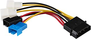 Network parts Big 4 Pin to 4 x 2 Pin CPU Fan PWM Deceleration Cable Temperature Control Drop Speed Cord, Length:10cm