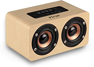 PTron Quinto Bluetooth Speaker 10W Wireless Mini Speaker Portable Bluetooth Dual BT Speaker with Mic (Gold)