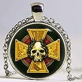 Empire Insignia Collar inspirado en Warhammer, collar de Warhammer, regalos de arte, para ella, para él