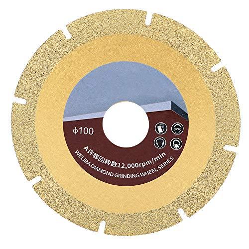 Hoja de sierra de diamante de 100 mm Disco de muela abrasiva de corte de soldadura fuerte chapado en titanio de malla 60 para máquina de mármol