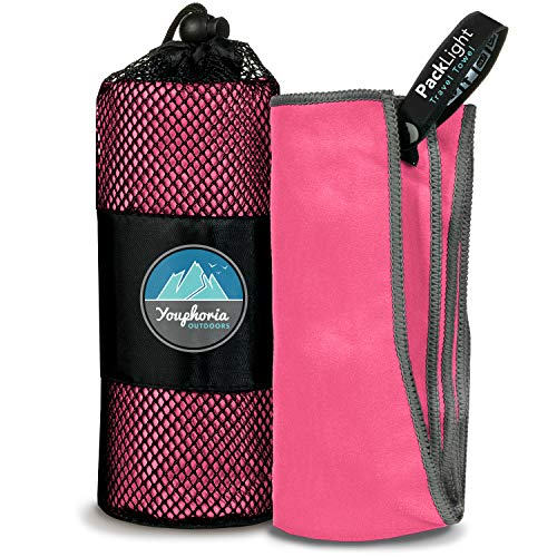 Youphoria Outdoors Microfiber Camping Towel Fast Drying Lightweight - Quick Dry Travel Towel & Sport Towel - 3 Size Options