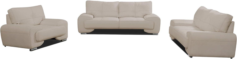 Mb-moebel Polstergarnitur Sofa Set 3er & 2er & Sessel 3-2-1 Wohnlandschaft 3-Sitzer und 2-Sitzer Mbel Set - Florida LUX (Cappuccino)