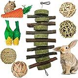 mellystore Juguetes para Masticar Hámster, 8PCS Pequeños Animales Juguetes para Masticar, Juguetes Masticables de Madera, Natural Molar Juguetes para para Hámster, Conejos, Cobayas,Jerbos de Cobayas