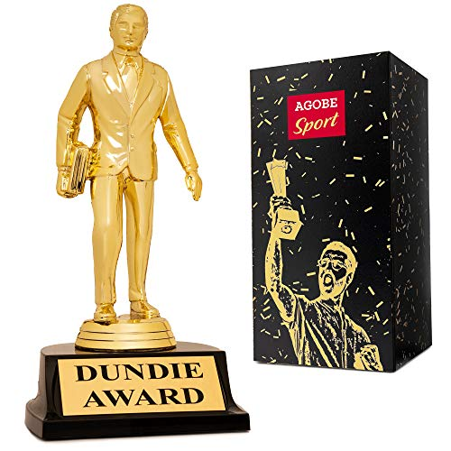 Dundie Award Trophy for The Office Bobblehead - Show Best Level Dundee Gag as Hilarious Gift Dunder Mifflin Memorabilia