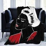 Lymknumb Hermosa Geisha Japonesa sostiene un Abanico Rojo Manta de vellón de 50'x40 Súper Suave Sofá Grande, liviano, Acogedor y cómodo