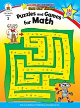 Puzzles and Games for Math, Grade 3: Gold Star Edition (Home Workbooks)