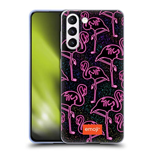Head Case Designs Officially Licensed Emoji Flamingo Neon Soft Gel Case Compatible with Samsung Galaxy S21 5G