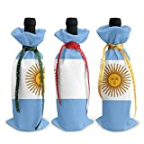 3pcs Drapeau de l'Argentine Housse de Bouteille de Vin Sac Vaisselle pour Décoration